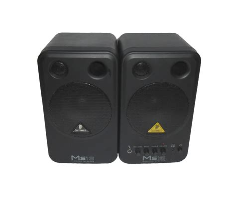 Speaker Monitor Behringer Ms 16 Original Diskon behringer ms16 active 4 quot professional studio monitor speakers pair no leads ebay