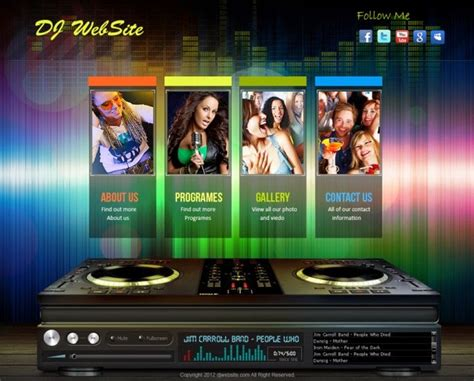 Free Download Design Templates Live Free Website Dj Website Design Templates
