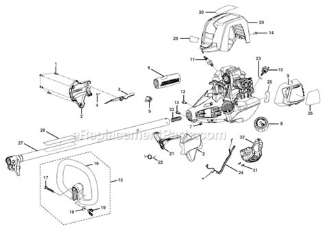 ryobi string trimmer parts diagram ryobi ry34420 parts list and diagram ereplacementparts