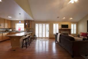 Kitchen And Family Room Ideas by Family Room Design Raditional Family Room Design By Other