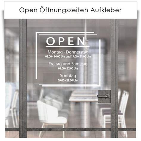 öffnungszeiten Aufkleber Bestellen by Open 214 Ffnungszeiten Aufkleber