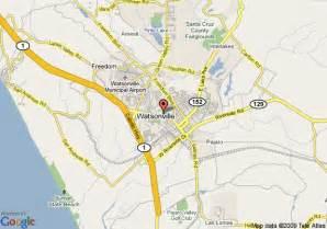 map of watsonville california map of economy inn watsonville watsonville