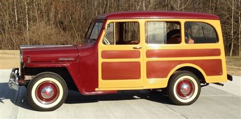 Jeep Station Wagon Faux Wood Gingham 1947 Willys Jeep Station Wagon