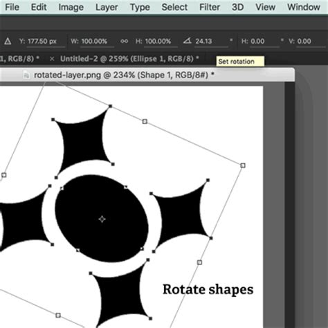 rotate pattern in photoshop rotate shapes in photoshop how to tutorial