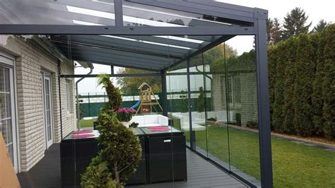 Alu Pavillon Mit Glasdach by Terrassen 252 Berdachung Alu Terrassendach Glasdach