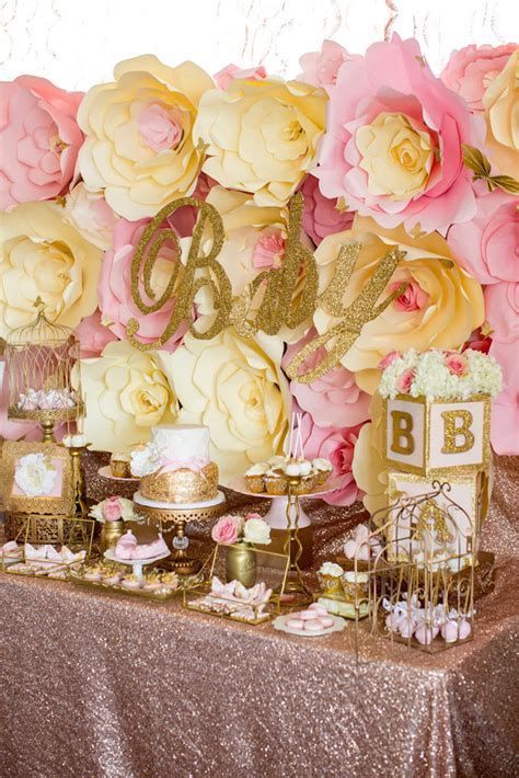 Baby Shower Pink And Gold by Kara S Ideas Pink Gold Butterfly Baby Shower