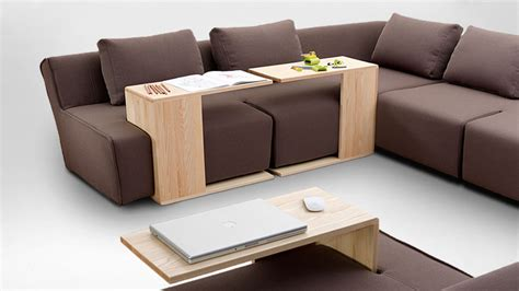 couch tv tray slotted couch makes it easier to dine in front of the tv