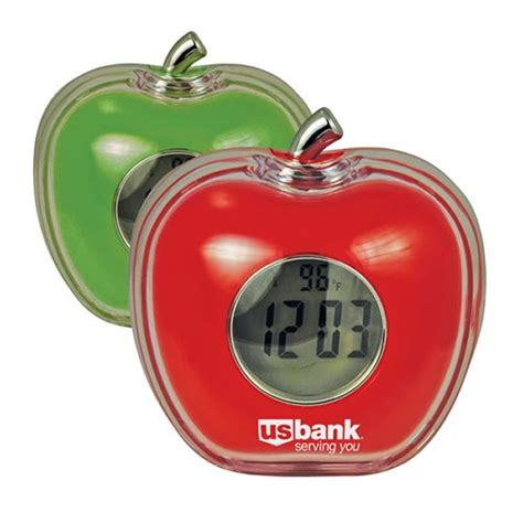 promotional talking apple shaped alarm clock customized talking apple shaped alarm clock