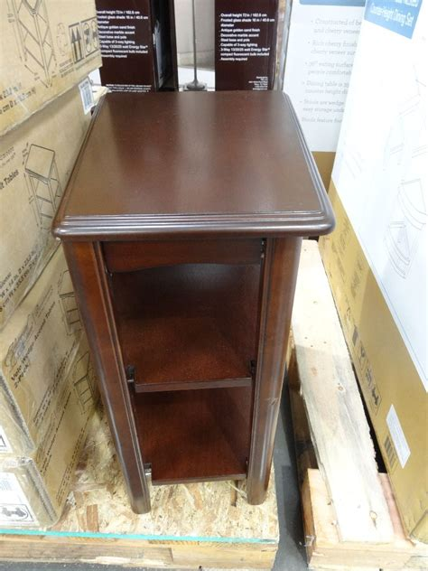 wedge end table costco universal furniture velo wedge tables