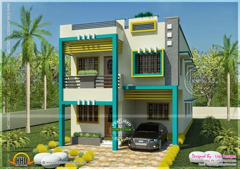 flat roof tamilnadu house in 1955 square kerala