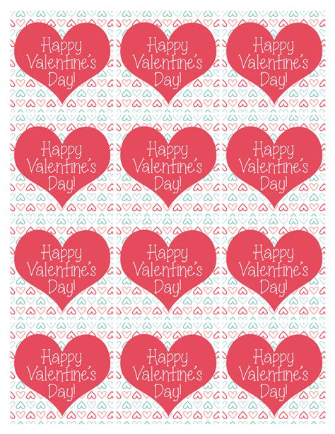 printable valentines tags 6 best images of printable s tags for bags
