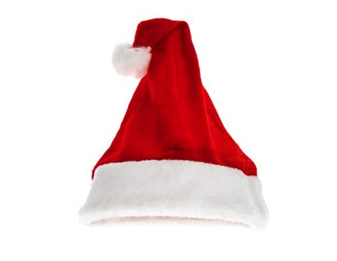santa red hat isolated on white background photo free