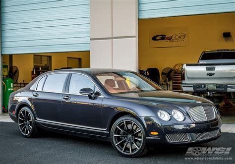 matte black bentley flying spur 2012 bentley continental flying spur with 20 quot gianelle
