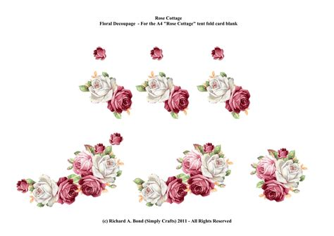 Free 3d Decoupage Sheets To Print - simply crafts quot cottage card quot floral decoupage