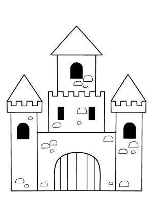 ritterburg bastel und malvorlage kostenlos ausdrucken
