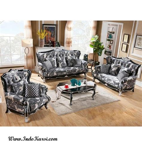 Jual Sofa Minimalis Warna Pink set kursi sofa mewah warna hitam silver indo kursi mebel