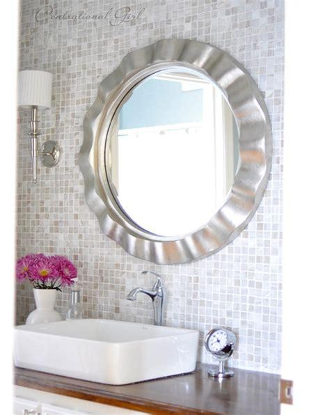 girls bathroom mirror the lucky backsplash centsational girl