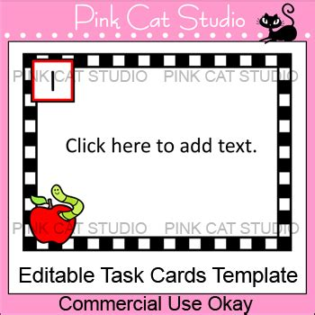 Task Card Template Ppt by Editable Task Cards Template Apple Theme By Pink Cat