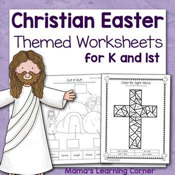 Christian Easter Worksheets For Kindergarten And First