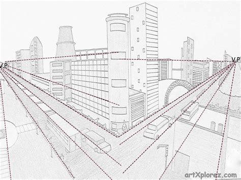 0 Point Perspective Drawing by Two Point Perspective Exle Perspective