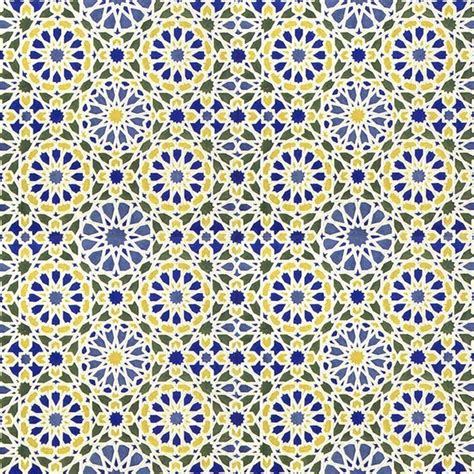 eastern pattern tiles middle eastern tile pattern in blue and yellow 2 art