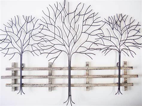 wire tree wall hanging home decor metal tree wall art decor home design ideas
