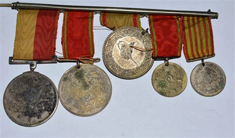 ottoman medals ottoman empire group of 5 medals silver imtiaz imtiyaz