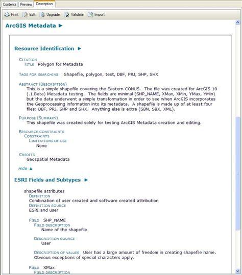 arcgis metadata tutorial wonderful esri templates images wordpress themes ideas