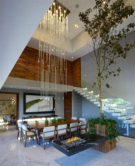 modern custom home with central atrium and interior bamboo rama construcci 243 n y arquitectura designs a stunning
