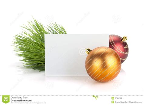 Empty Gift Cards - empty gift card and christmas decor royalty free stock photos image 27428738
