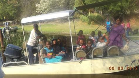 boat cruise maun swaneng students visiting maduo lodge picture of maun