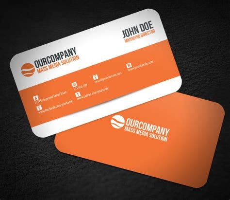45 well designed round corners business cards rounded