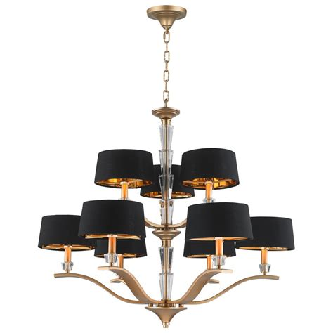 Black Drum Shade Chandelier Worldwide Lighting Gatsby 9 Light Matte Gold Chandelier With Black Drum Shade Cp138mg34 The