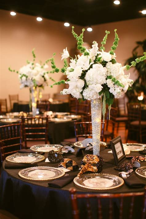 Center Wedding Flowers by Hydrangea Centerpieces With Glowing Led Lights In