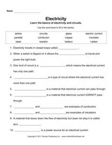 electricity instant worksheets