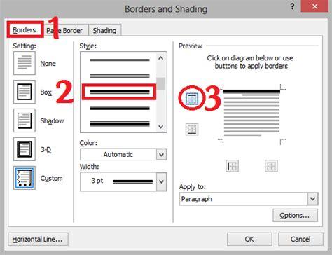 membuat garis kop surat pada ms word cara membuat garis kop surat di microsoft word espada blog