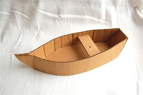 cardboard boat craft with pattern to make corrugated cardboard boat bible