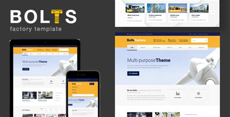 Bolts Factory Manufacturing Factory Business Template Themekeeper Com Free Manufacturing Website Templates