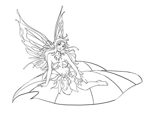 Coloring Page Of Fairy | free printable fairy coloring pages for kids