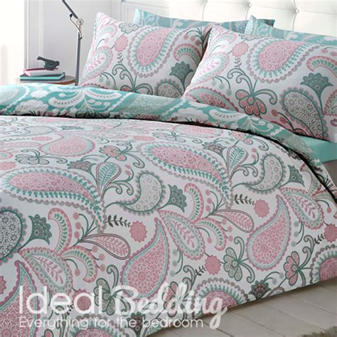pastel bedding paisley pastel pink duvet quilt bedding cover and