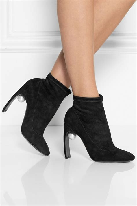 nicholas kirkwood embellished stretch suede ankle boots in