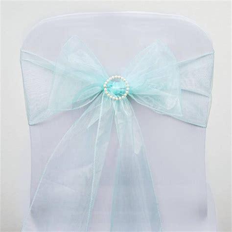 light blue organza 5 pcs wholesale light blue sheer organza chair sashes tie