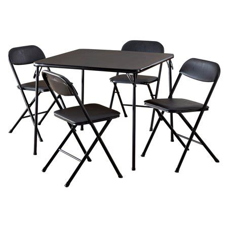 cosco 5 card table set cosco 5 card table set black walmart com