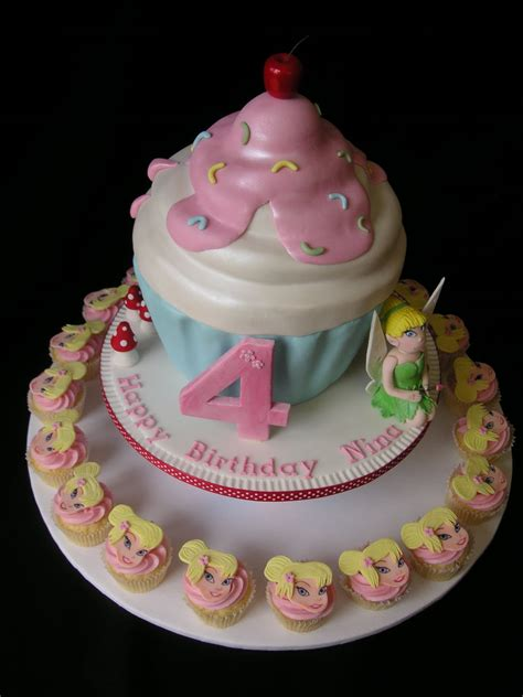 cupcake birthday cake just call me martha tinkerbell cupcake birthday cake