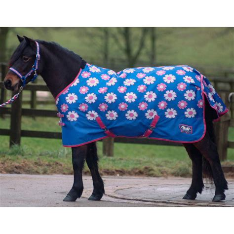 pony turnout rugs cottage craft pony standard medium weight turnout rug blue