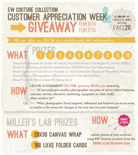 customer appreciation day flyer template customer appreciation week and giveaway ew couture