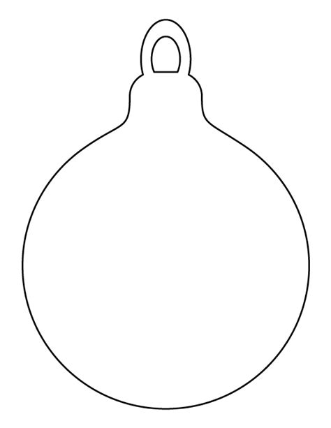 Printable Christmas Ornament Template Templates For Ornaments