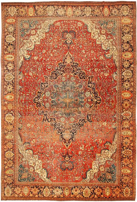 What To Do With Old Rugs by Antique Sarouk Farahan Persian Rug 43328 Nazmiyal Collection