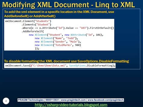 c xml tutorial linq sql server net and c video tutorial part 4 modifying
