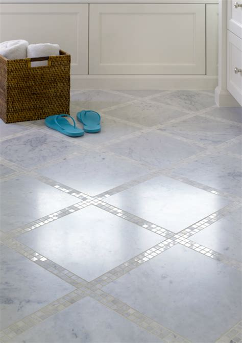 mosaic tile floor transitional bathroom graciela